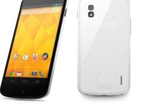 Google Nexus 4 màu trắng được bán từ 29/5