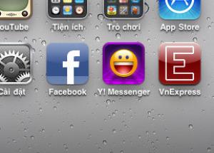 Hình ảnh thực tế iOS 4 trên iPhone