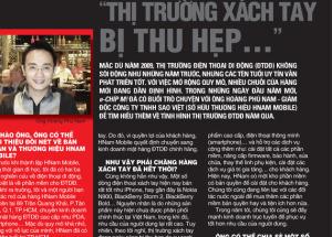 Hnam Mobile trả lời phỏng vấn báo Xuân 2009