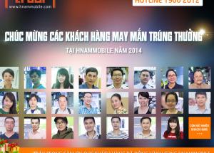 Hnam Mobile cảm ơn quý khách hàng đã  đồng hành trong suốt năm 2014