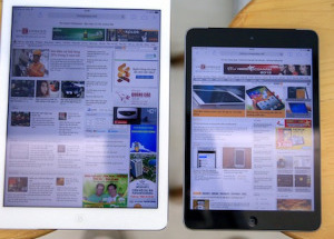 iPad Mini Retina đọ dáng cùng iPad Air