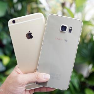 iPhone 6S Plus đọ dáng Samsung Galaxy S6 Edge Plus