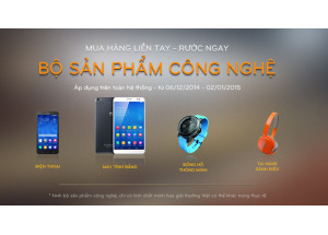 Khách hàng đầu tiên trúng bộ sản phẩm công nghệ cùng Hnam Mobile