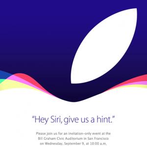 Apple gửi thư mời sự kiện ra mắt iPhone mới ngày 9/9