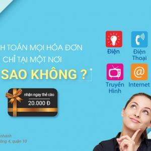 Chỉ-có-tại-Hnam Mobile 13 – Thanh toán hóa đơn, tặng ngay thẻ cào 20.000đ