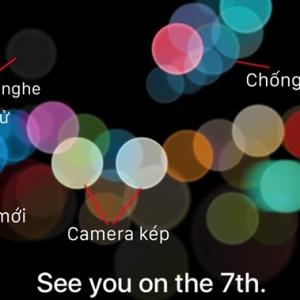 Giải mã thư mời của hãng Apple trên chiếc iPhone 7