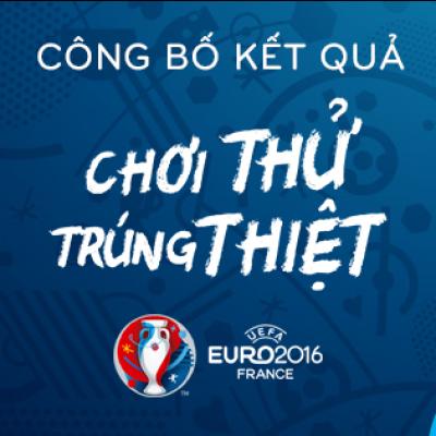 Kết quả chương trình Dự đoán Euro 2016 - Chơi thử trúng thiệt