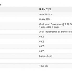 Lộ cấu hình 2 smartphone Android mới của Nokia