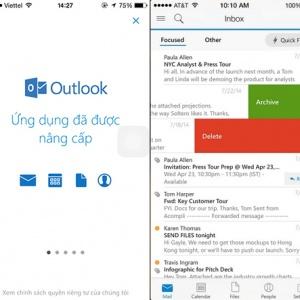 Microsoft phát hành ứng dụng Outlook cho iOS và Android