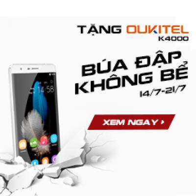Tặng smartphone búa đập không bể: Oukitel K4000. Tham gia ngay!