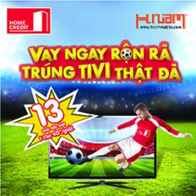 Trúng ngay Tivi 40 inch xem Euro Cup - chỉ cần trả góp qua Home Credit