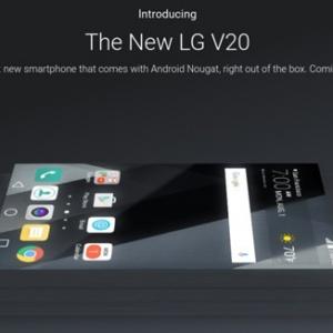Xác nhận điện thoại LG V20 sẽ chạy Android 7.0 Nougat