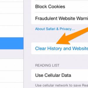 Xóa cache, cookie và lịch sử Safari trên iOS