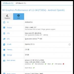 LG G4 lộ thông số trên GFXBench - màn 2K 5.5 inch, Snapdragon 808, camera 16/8MP