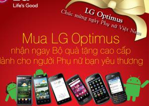 LG Optimus chúc mừng ngày Phụ Nữ Việt Nam tại Hnam Mobile