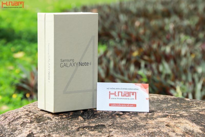 Mở hộp Galaxy Note 4 bản 2 sim tại Hnam Mobile.