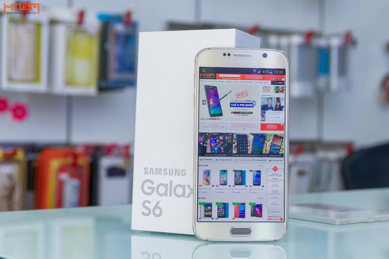 Mở hộp Samsung Galaxy S6 chính hãng tại Hnam Mobile.