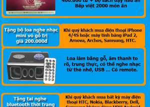 Mua 1 tặng 1 mừng Hnam Mobile khai trương showroom 7 tại 778 CMT8, P5, Q.Tân Bình