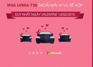 Mua Lumia 730 - Thoải mái vi vu xế hộp ngày Valentine