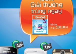 Mua Samsung tại Hnam Mobile tặng thẻ cào 100.000đ
