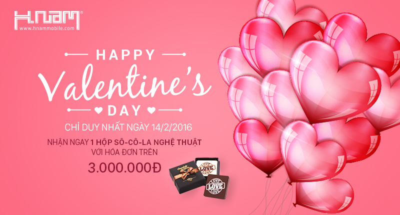 Mừng Valentine 2016, Tặng ngay 01 hộp Chocolate Graphics cao cấp