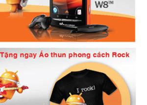 Nhận ngay áo thun phong cách Rock với Sony Ericsson Walkman tại Hnam Mobile