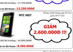Siêu giảm giá HTC chính hãng tại Hnam Mobile lên đến 5.500.000đ
