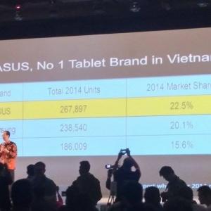 Tại Việt Nam, máy tính bảng Asus bán chạy hơn cả iPad
