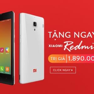 Tặng 01 điện thoại Xiaomi Redmi 1S trị giá 1.890.000đ