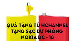 Tặng sạc dự phòng Nokia DC-18 trị giá 295.000Đ tại HChannel
