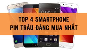 Top 4 smartphone pin trâu giá tầm trung đáng mua nhất.