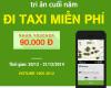 Tri ân cuối năm - Đi taxi miễn phí