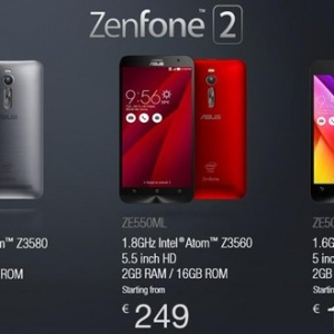 Zenfone 2 lên kệ tại châu Âu, giá từ 179