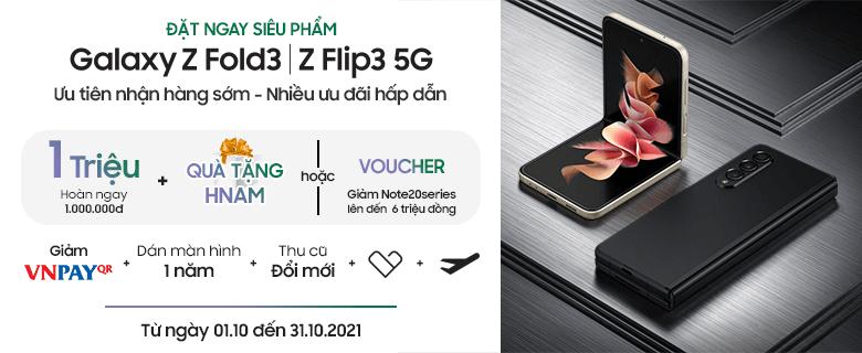 Galaxy Z Fold3/ Z Flip3 nhận ưu đãi lớn