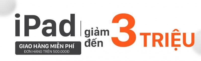 iPad Giảm 3 Triệu