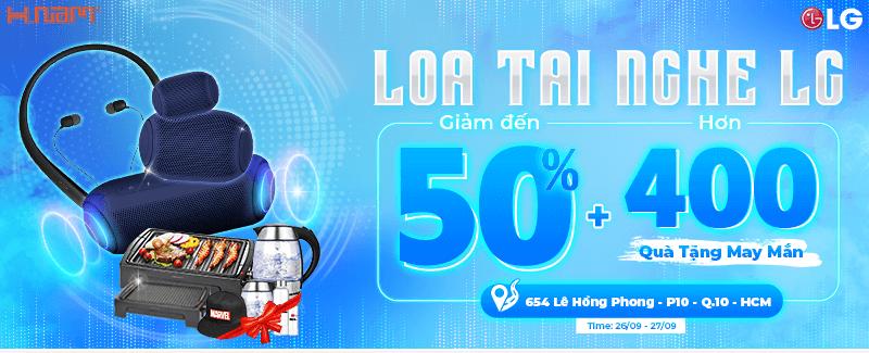 Loa - Tai nghe LG giảm 50%