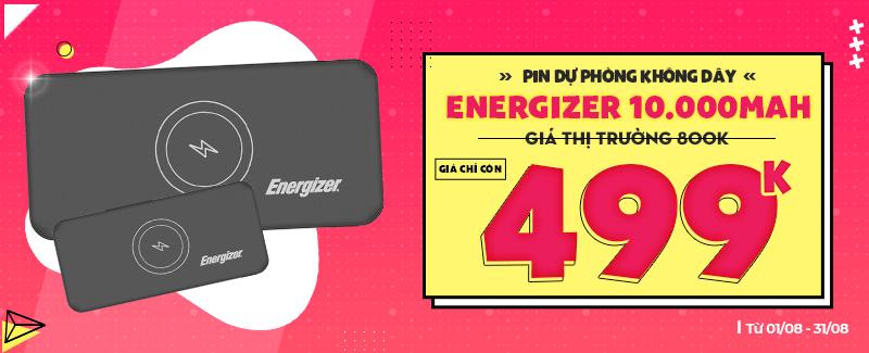 Pin dự phòng Energizer Giảm giá chỉ còn 499k