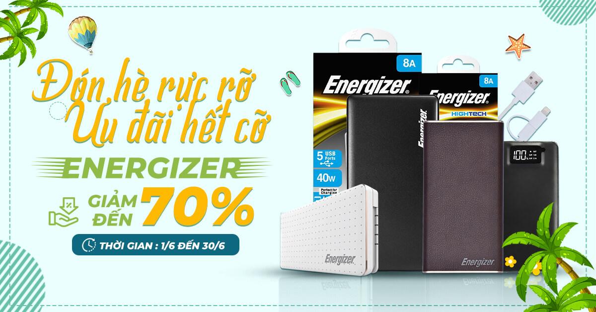 Ưu đãi hết cỡ - phụ kiện Energizer giảm giá đến 70%